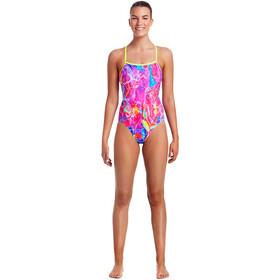Funkita Single Strap One Piece Swimsuit Ladies Kaleidocolour